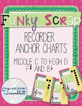 Funky Scrap Recorder Anchor Charts