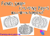 Halloween Coloring Pages Funky Pumpkins Set #2