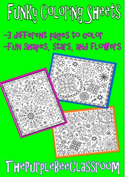 Coloring Pages Funky  Shapes Coloring Pages Set 1