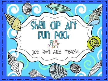 Funky Shells Clip Art Graphics {Summer-Beach-Fun}