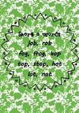 Funky Short O Vowel Poster