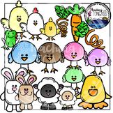 Funky Spring Clipart (Easter Clipart)