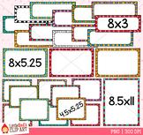 Funky Stripe Task Card Templates Clip Art