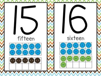 Funky Super Star Classroom Decor (Blue,Green, Orange, & Brown)