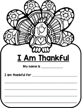 FREE Thanksgiving Turkey Writing and Clip Art