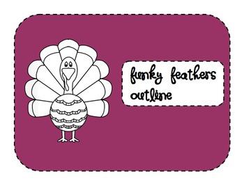 Funky Turkey Outline