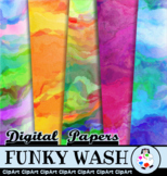 Funky Watercolor Wash Paper Backgrounds