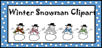 Funky Winter Snowman Clipart