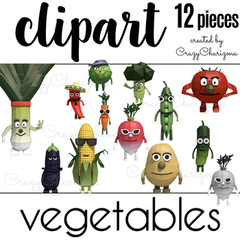 Vegetables clipart (personal and commercial use)
