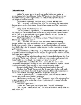 Funny, 2-Page Dialogue that Teaches the Rules of Writing Dialogue