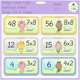 Funny Animals Dominoes for the 1-10 x Tables: Single Times