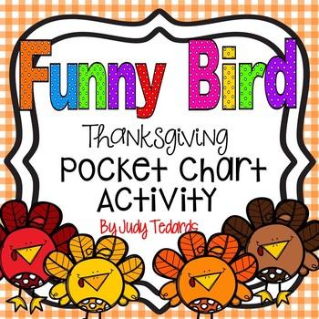 Funny Bird (FREEBIE Thanksgiving Pocket Chart Activity)