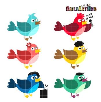 Funny Birds Clip Art - Great for Art Class Projects!