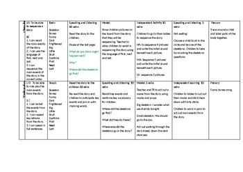 Funny Bones Weekly Plan