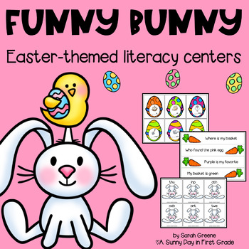 Funny Bunny {6 Easter themed literacy centers!}