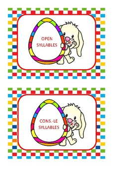 Funny Bunny - A Nonsense Syllable Sort and Flashcard Activity