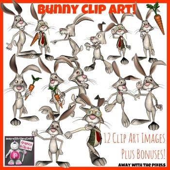 Funny Bunny Clip Art - 14 Rabbit Clipart Images