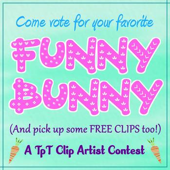 Funny Bunny Clipart FREEBIE