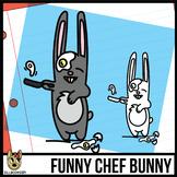 Funny Chef Bunny Clip Art Freebie