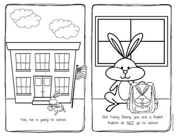 Funny Bunny Emergent Reader Kindergarten and First Grade