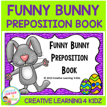 Preposition Funny Bunny Book Easter