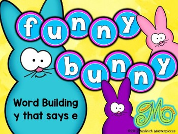 Funny Bunny – Word Building with words ending in y -  long vowel e