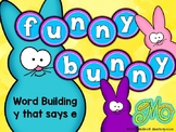 Funny Bunny – Word Building with words ending in y -  long