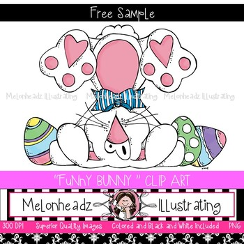 Funny Bunny clip art - FREEBIE