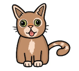 "Funny Cat ""Hand-Drawing"" Video Clip Art"
