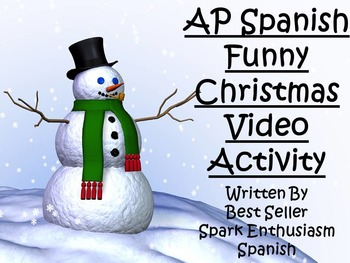 AP Spanish Funny Christmas Video Activity