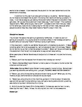 Funny Classroom Management Tips:  How to not get bored during the day.