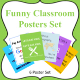 Funny Classroom Posters Set