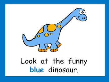 Funny Dinosaurs Shared Reading Kindergarten Color Words