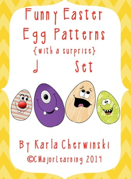 Funny Easter Egg Patterns {with a surprise} half note