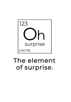 Funny Element of Surprise Science Classroom Wall Decor / Printable Poster