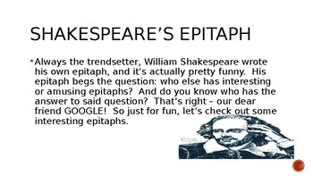 Funny Epitaphs PowerPoint