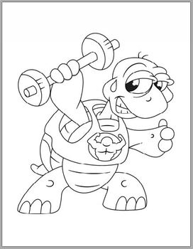 Funny Exercise Animal Coloring Pages 28 Funny Designs By Love Little Things