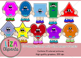 Funny Face 2D Geometric Shapes Clipart commercial use (Liza Cliparts)