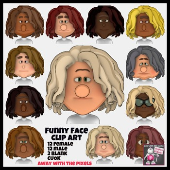 Funny Face Clip Art - 24 Clipart Images for Teachers