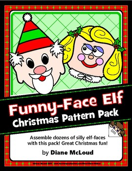 Funny-Face Elf Christmas Pattern Pack