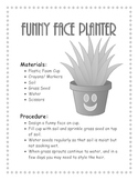 Funny Face Planters- Growing grass and Plants- Science