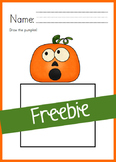 Funny Face Pumpkin - Freebie