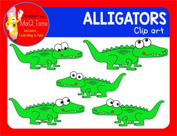 Funny Faces Alligator Cliparts