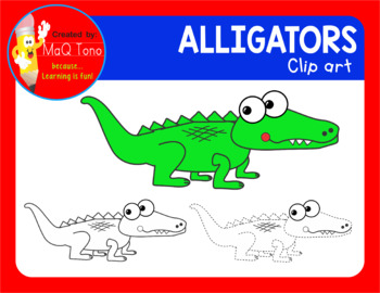 Funny Faces Alligator Cliparts