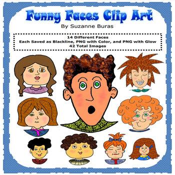 Funny Faces Clip Art