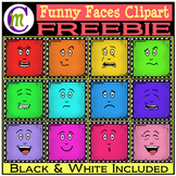 Funny Faces Clipart FREEBIE