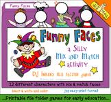 Funny Faces File Folder Game Download