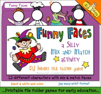 Funny Faces File Folder Game Download