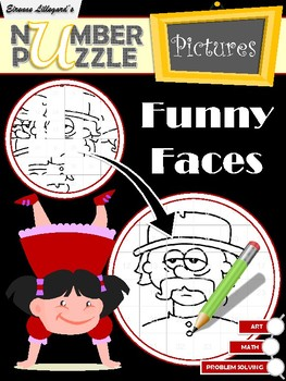 Funny Faces Number Puzzle Pictures Free