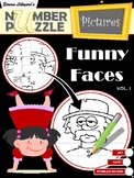 Funny Faces Number Puzzle Pictures Volume I